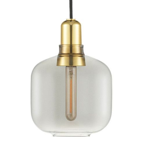 Normann Copenhagen Amp Lamp Brass hanglamp small