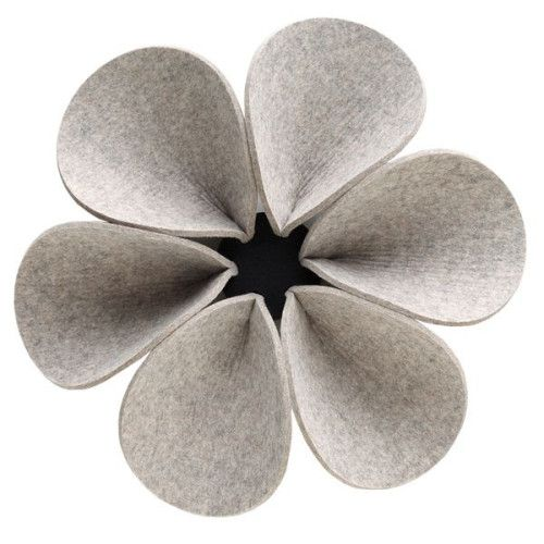 Hey-Sign Silent Flower akoestisch paneel wand large light grey mixture