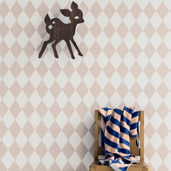 Ferm Living Harlequin behang roze
