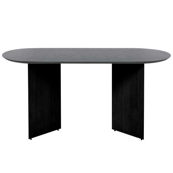 Ferm Living Mingle tafel 150 ovaal black veneer
