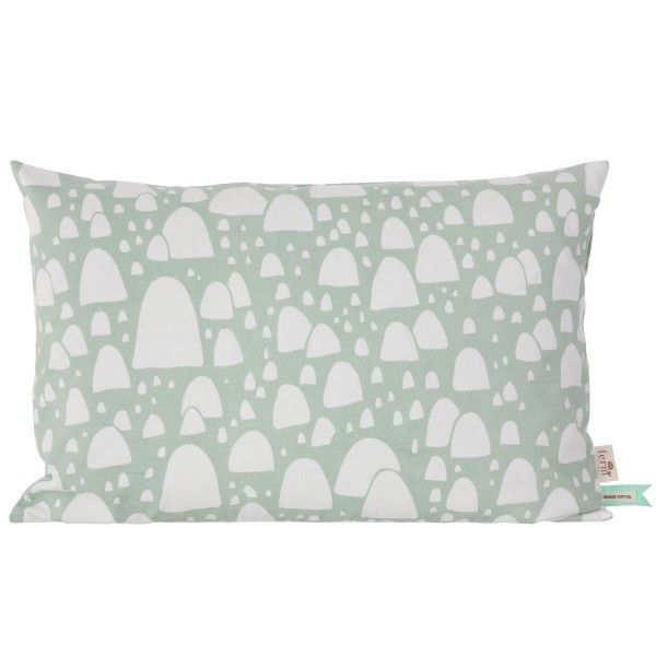 Ferm Living Mountain Tops kussen mint 60x40