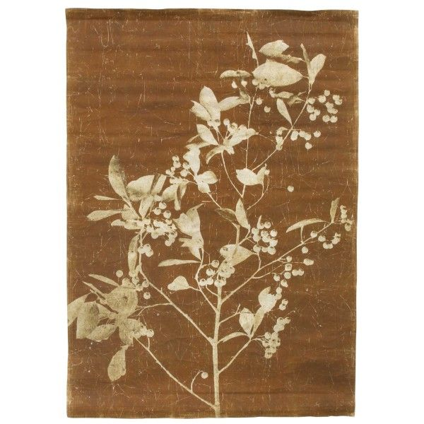 HKliving Linen Chart Blueberry Twig wanddecoratie