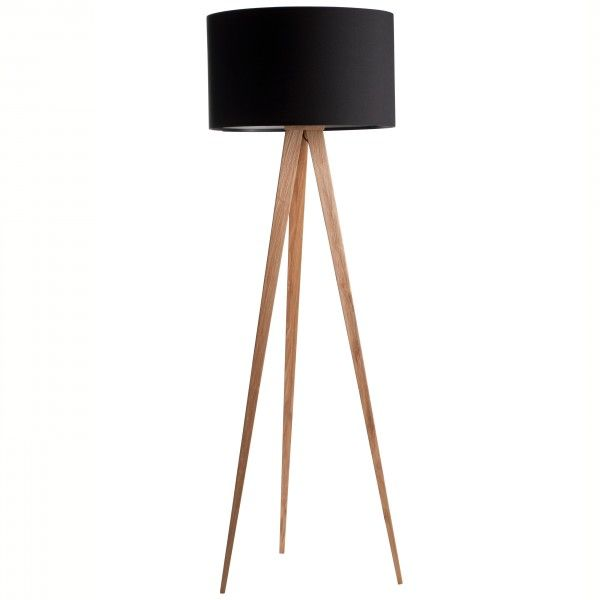 zuiver tripod wood vloerlamp flinders verzendt gratis. Black Bedroom Furniture Sets. Home Design Ideas