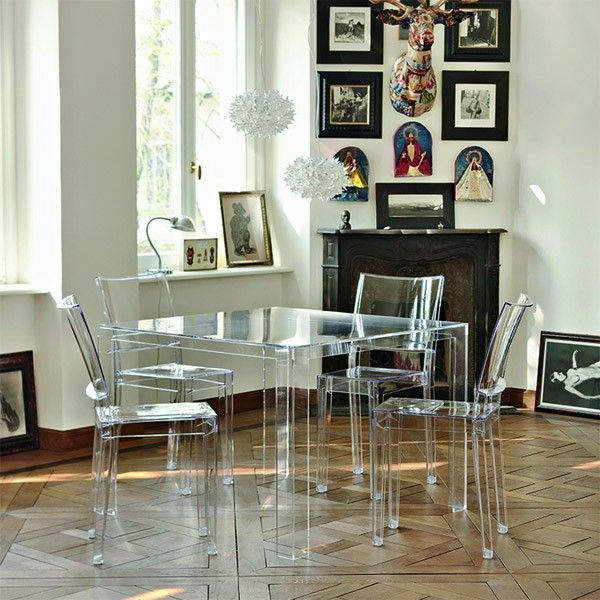 Kartell Invisible tafel low 100x100