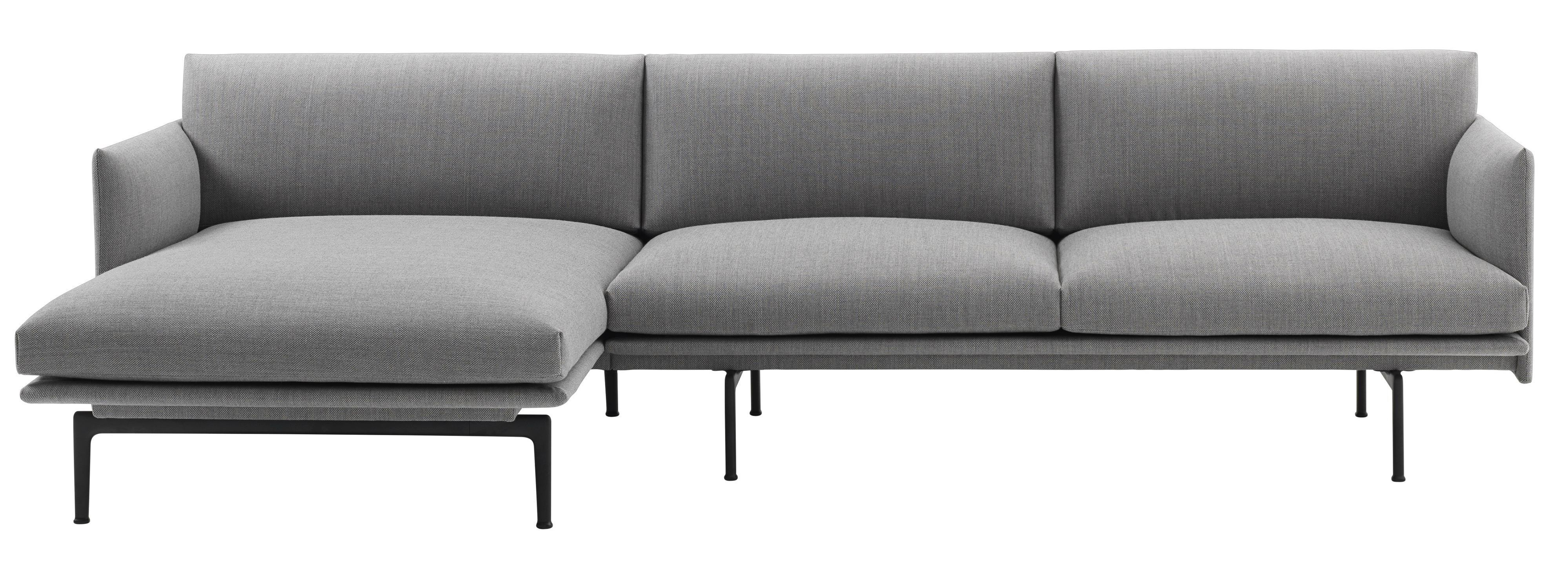 Hoekbank Chaise Lounge.Muuto Outline Bank 3 Zits Met Chaise Longue Links Flinders