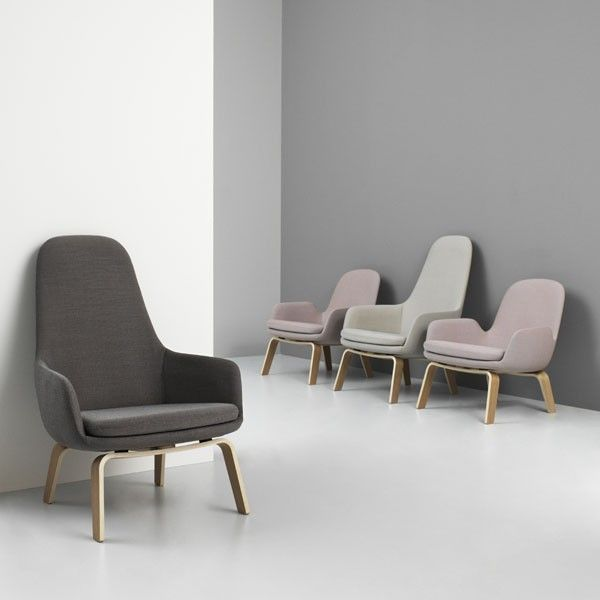 Normann Copenhagen Era Lounge Chair High loungestoel met eiken onderstel