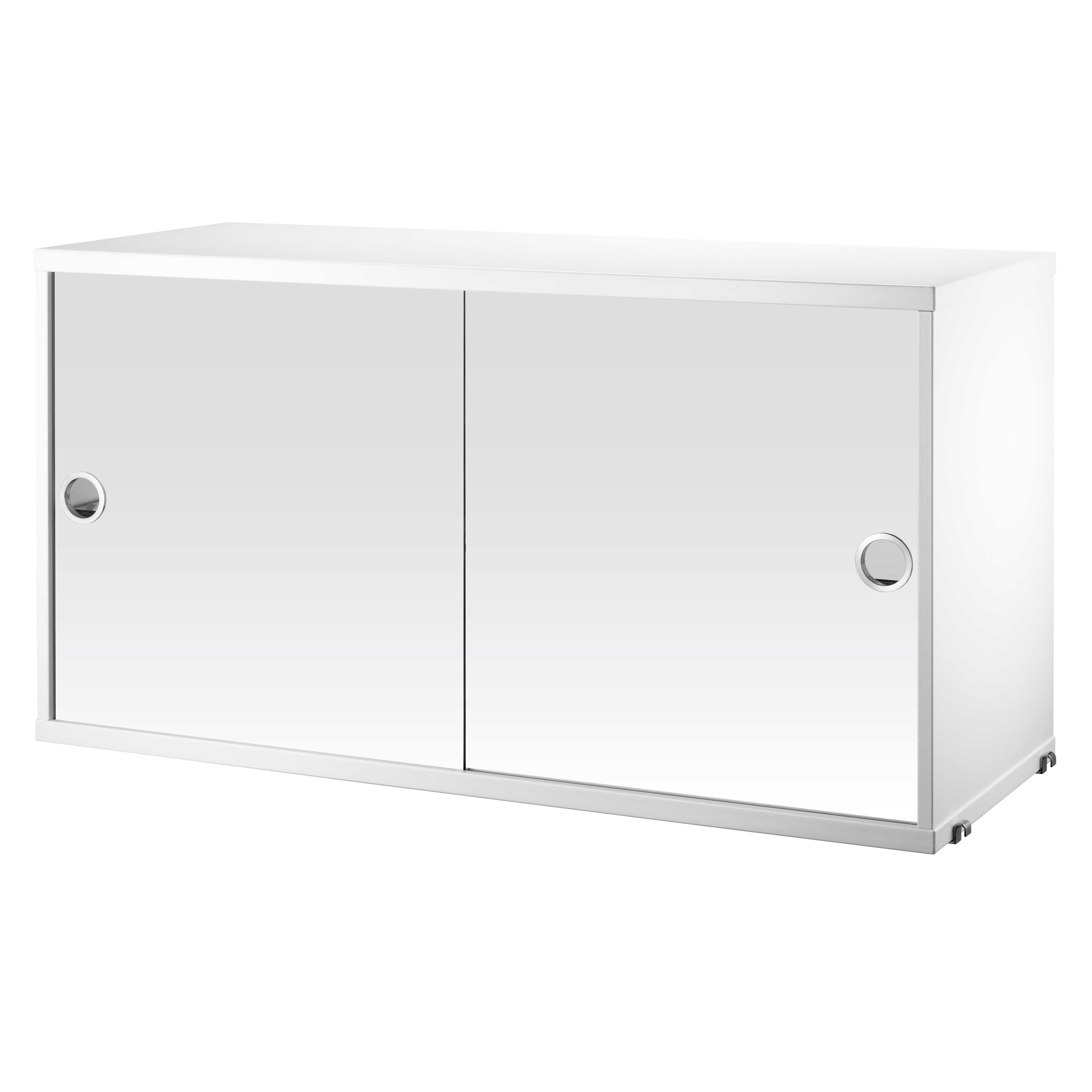 String Cabinet With Mirror Doors 78 X 20 37 Cm