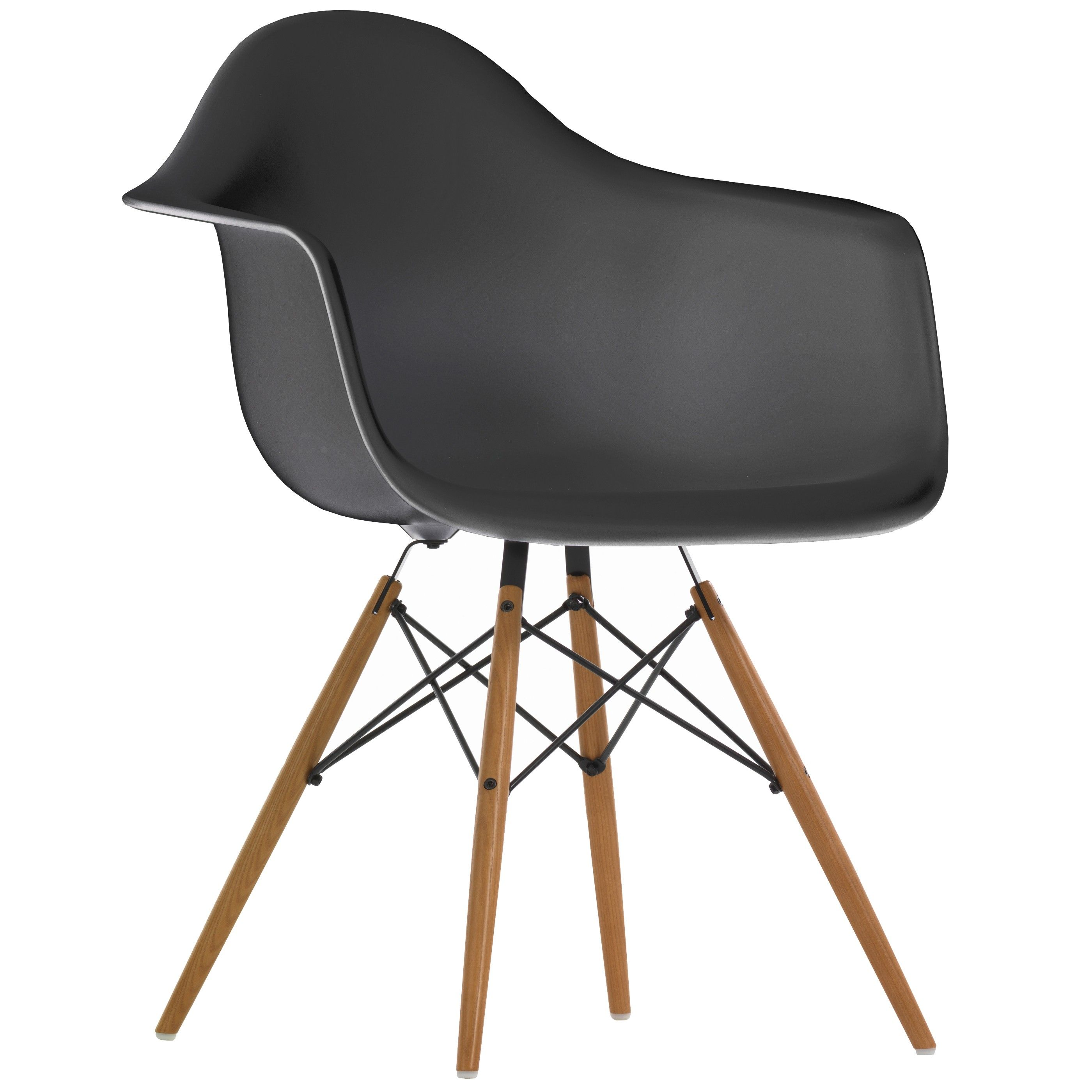 vitra eames daw stoel met geelachtig esdoorn onderstel. Black Bedroom Furniture Sets. Home Design Ideas