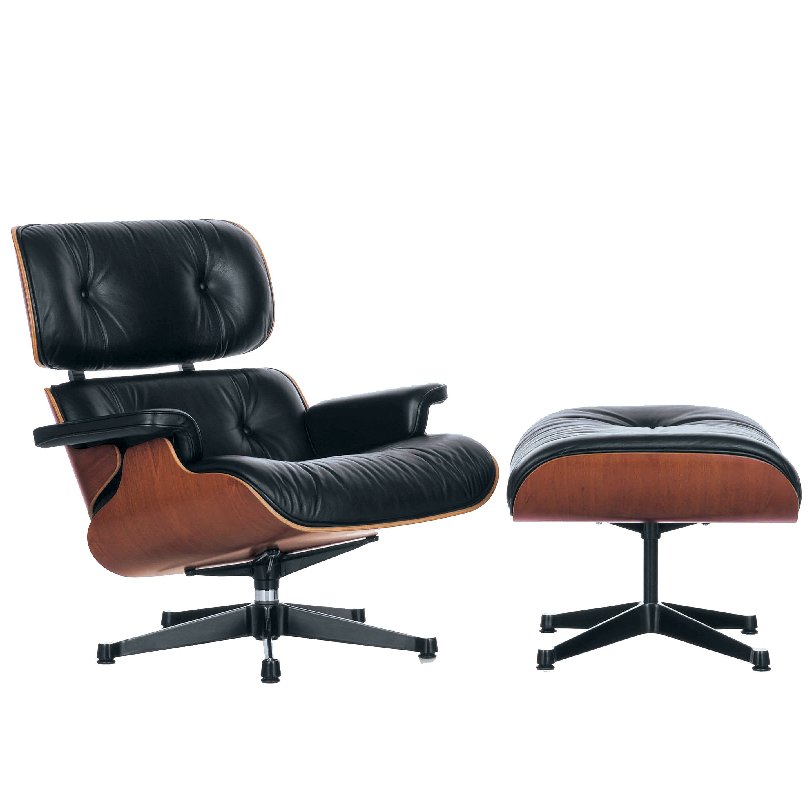 Vitra eames lounge chair met ottoman loungestoel for Fauteuil eames imitation