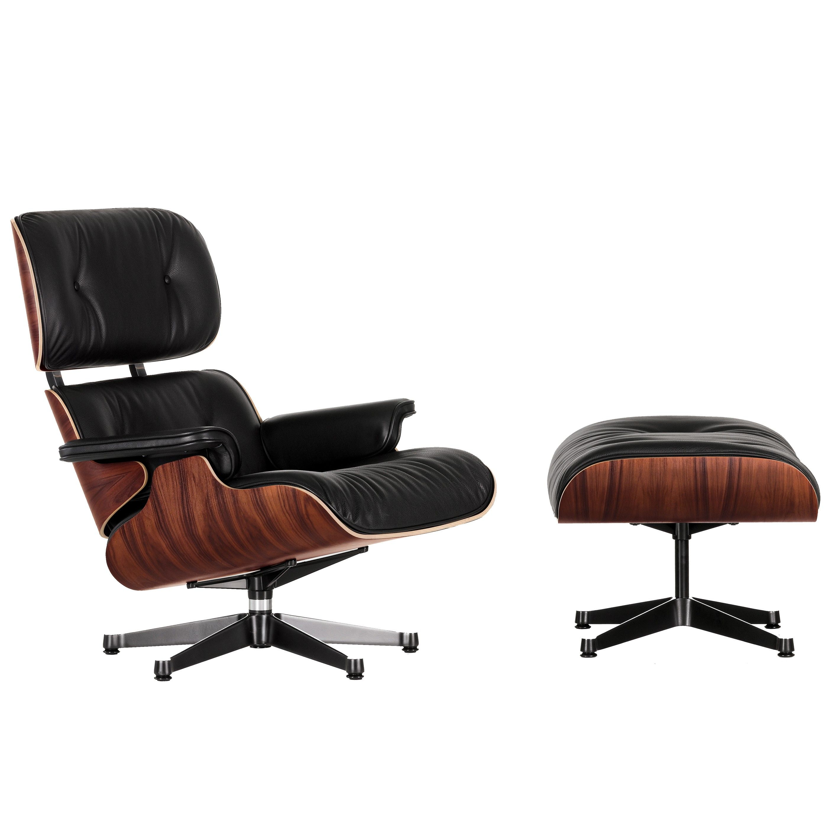 vitra eames lounge chair met ottoman fauteuil nieuwe afmetingen palisander flinders verzendt. Black Bedroom Furniture Sets. Home Design Ideas