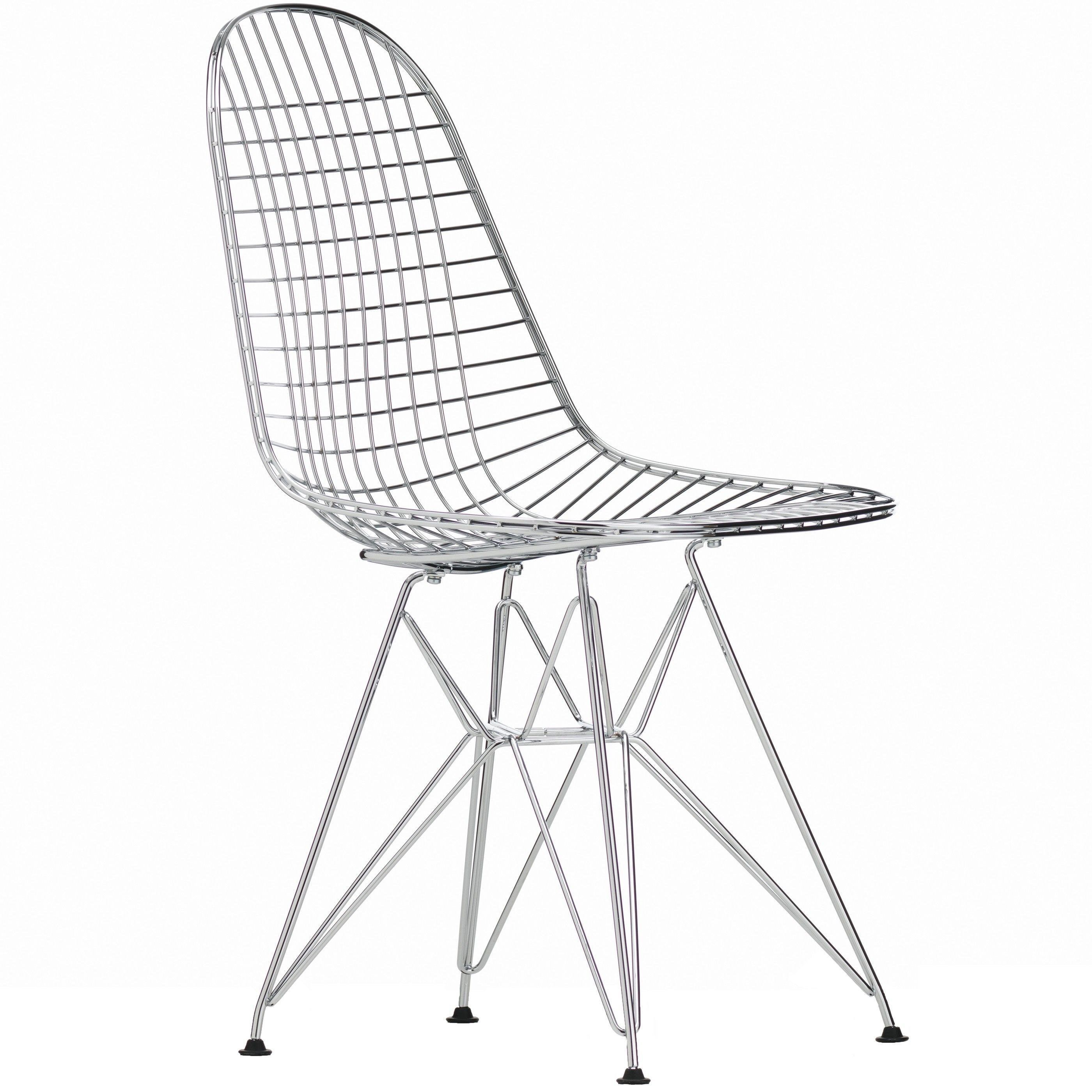 Vitra Eames Wire Chair DKR stoel oude zithoogte