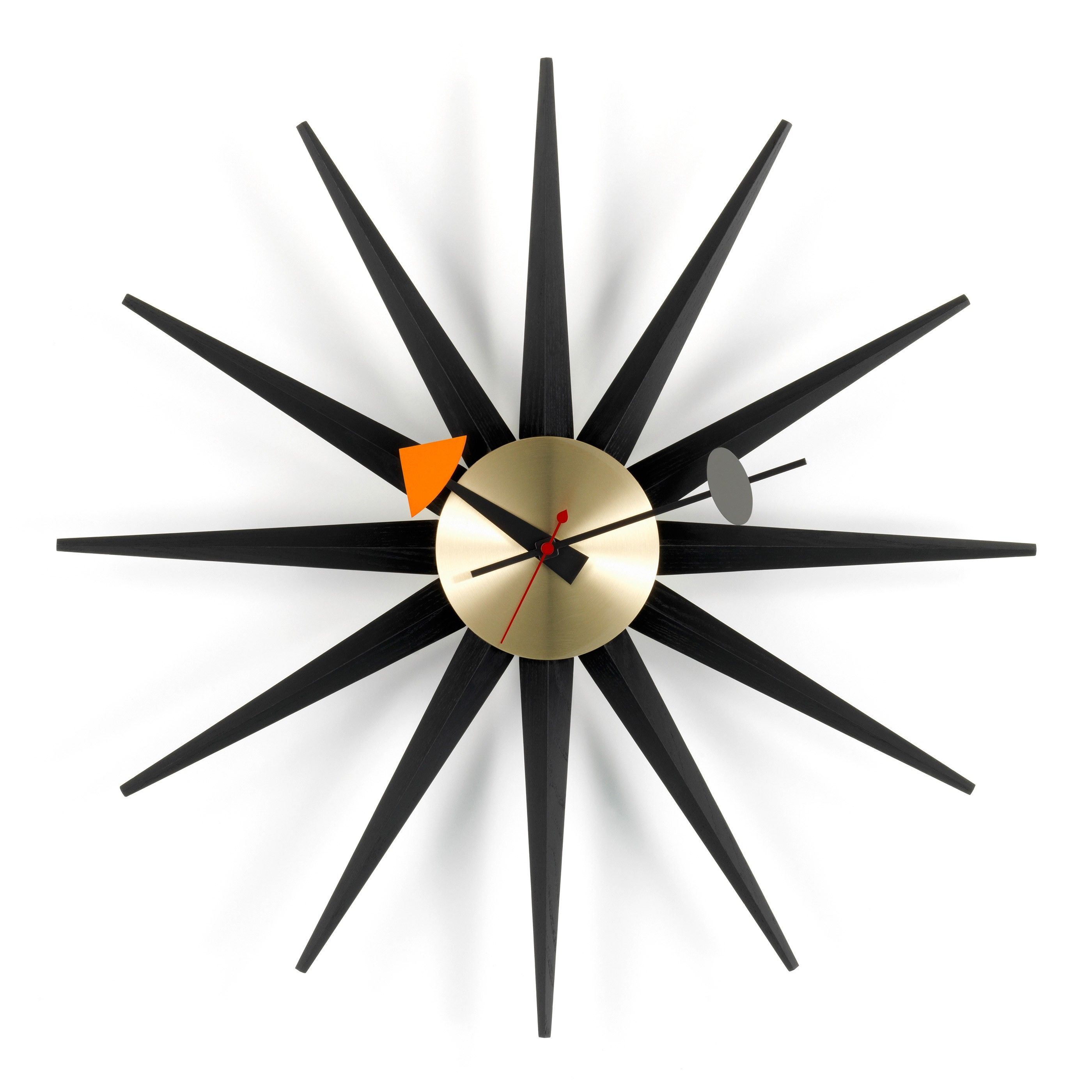 vitra sunburst clock klok black collection flinders verzendt gratis. Black Bedroom Furniture Sets. Home Design Ideas