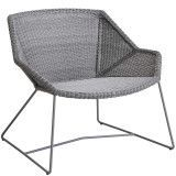 Cane-Line Breeze Lounge fauteuil Light Grey