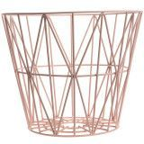 Ferm Living Wire Basket opbergmand rose large