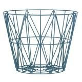 Ferm Living Wire Basket opbergmand petrol medium