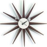 Vitra Sunburst Clock klok walnoot