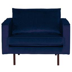 BePureHome Outlet - Rodeo Velvet fauteuil donkerblauw