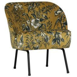 BePureHome Outlet - Vogue fauteuil fluweel poppy mosterd