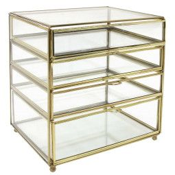 HKliving Brass Glass opberger