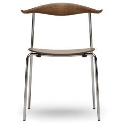 Carl Hansen & Son CH88T Smoked Chrome stoel