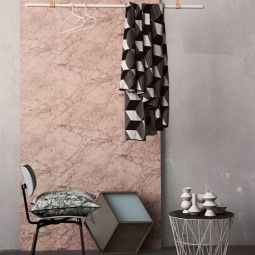Ferm Living Marble behang roze