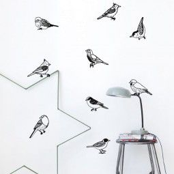 Ferm Living Drawing birds muursticker
