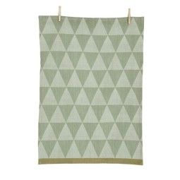 Ferm Living Mountain theedoek mint