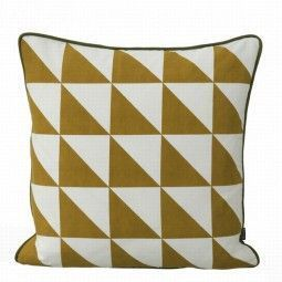 Ferm Living Large Geometry kussen currie 50x50