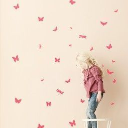 Ferm Living Mini Butterflies muursticker neon
