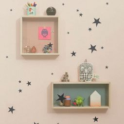 Ferm Living Mini Stars muursticker zwart