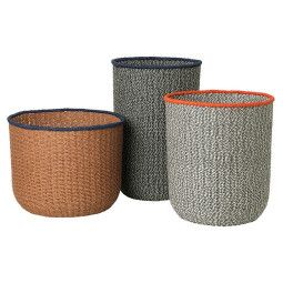 Ferm Living Braided Floor Basket mand (Set van 3)