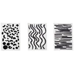 Ferm Living Brush 1 theedoek set van 3