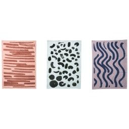 Ferm Living Brush 2 theedoek set van 3