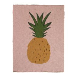 Ferm Living Fruiticana Pineapple plaid 100x80