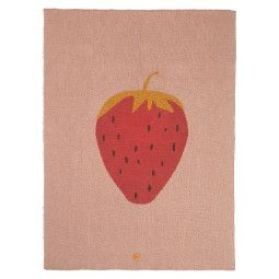 Ferm Living Fruiticana Strawberry plaid 100x80