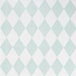 Ferm Living Outlet - Harlequin behang mint