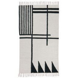 Ferm Living Kelim vloerkleed Black Lines large 140x200