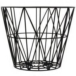 Ferm Living Outlet - Wire Basket opbergmand zwart large