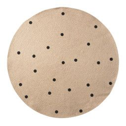Ferm Living Black Dots vloerkleed 100