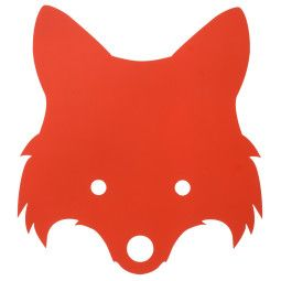 Ferm Living Fox wandlamp LED oranjerood