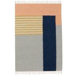 Ferm Living Kelim vloerkleed White Lines large 140x200
