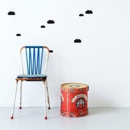 Ferm Living Mini Clouds muursticker zwart