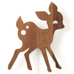 Ferm Living My Deer wandlamp LED eiken