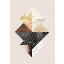 Ferm Living Triangle Fusion houten illustratie