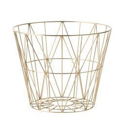 Ferm Living Wire Basket Brass opbergmand medium