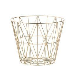 Ferm Living Wire Basket Brass opbergmand small