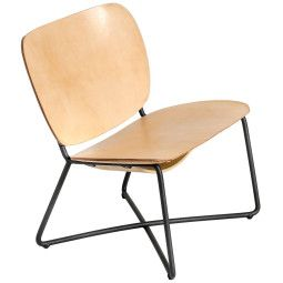 Functionals Outlet - Miller fauteuil zwart frame naturel leer