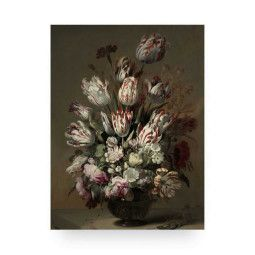 KEK Amsterdam Golden Age Flowers 4 wandpaneel hout