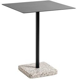 Hay Outlet - Terrazzo Square tuintafel 60x60 grey - charcoal