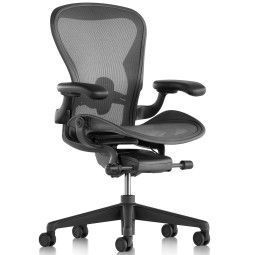 Herman Miller Outlet - Aeron bureaustoel Fully Adjustable Carbon black Posture Fit